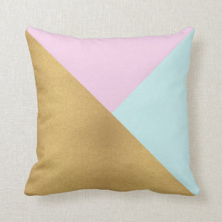 Oro rosado y almohada de tiro moderna negra