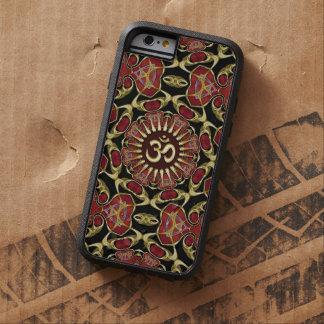Oro sánscrito de OM + Caja barroca roja del iPhone Funda Tough Xtreme iPhone 6