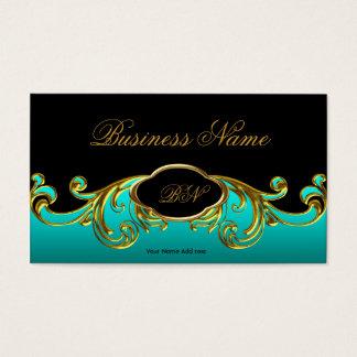 Oro verde azul verde azulado negro con clase tarjeta de visita
