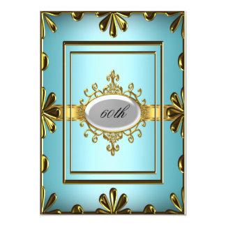 Oro verde azulado del trullo de la invitación de