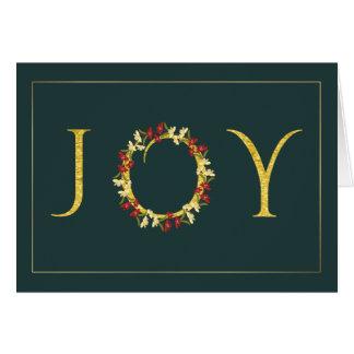 Oro verde ejecutivo de la guirnalda de la alegría tarjeta de felicitación