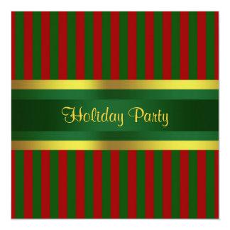 Oro verde rojo de la invitación de la celebración