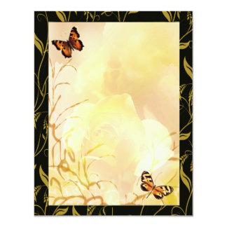 Oro y amarillos de Whispy Invitación 10,8 X 13,9 Cm