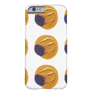 Oro y caja violeta del punto funda barely there iPhone 6