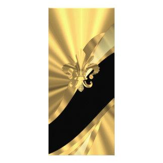 Oro y flor de lis negra lonas