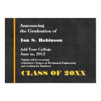 Oro y graduación moderna de la universidad del comunicado personalizado