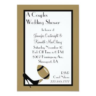 Oro y invitación negra de la ducha del boda del