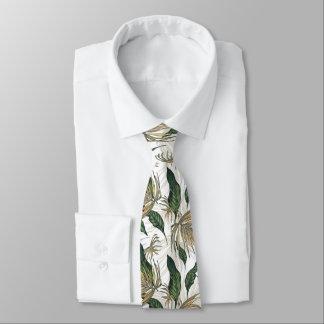 Oro y modelo verde de la hoja corbata personalizada