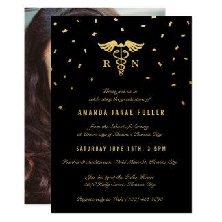Oro y negro de las invitaciones el | de la