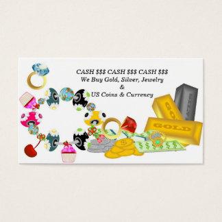 Oro y plata de compra tarjeta de negocios