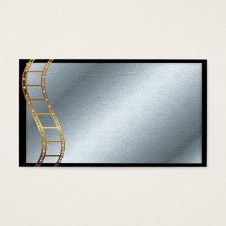 Oro y plata metálicos de la tira de la película tarjeta de visita
