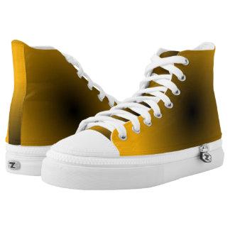 Oro y zapatos impresos Hola-Top negro de GAX