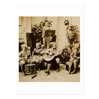 Orquesta de los niños pequeños - vintage postal