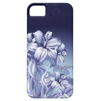 Orquídea azul iPhone 5 protector