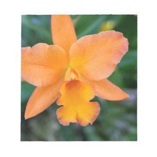 Orquídea de color salmón bloc de notas