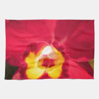 Orquídea del fuego paño de cocina