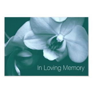 Orquídea en la celebración cariñosa de la memoria comunicados personales