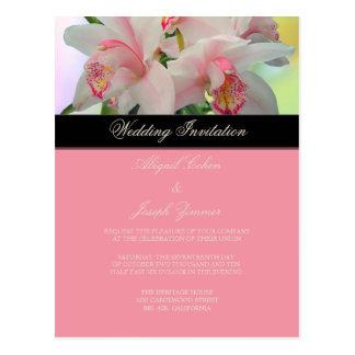 Orquídea, invitación diy del boda/reserva la fecha postal