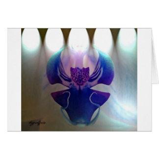 Orquídea magenta tarjeta de felicitación
