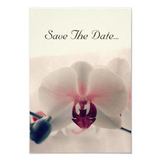 """Orquídea """"reserva tarjeta de la fecha"""" invitación 8,9 x 12,7 cm"""