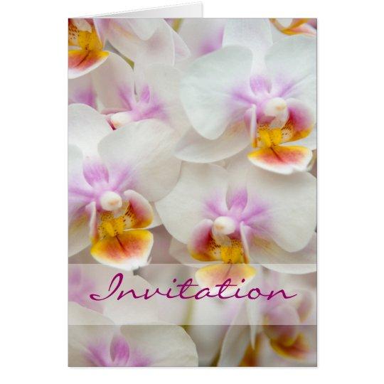 Orquídea • Tarjeta de la invitación del boda