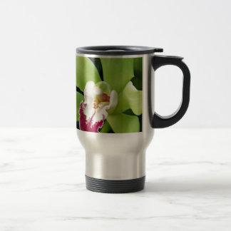 Orquídea verde taza de viaje