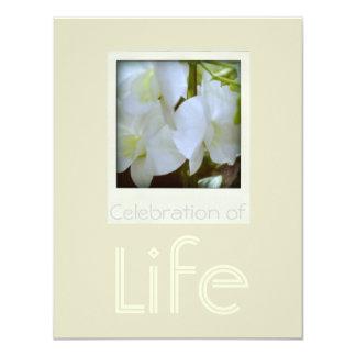 Orquídeas 1 celebración de la invitación del invitación 10,8 x 13,9 cm