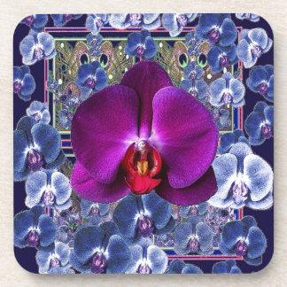Orquídeas celestiales Bler-Grises de la orquídea Posavasos