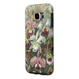 Orquídeas de Haeckel del vintage Fundas Samsung Galaxy S6