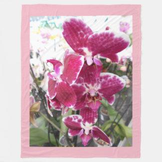 Orquídeas púrpuras manta polar