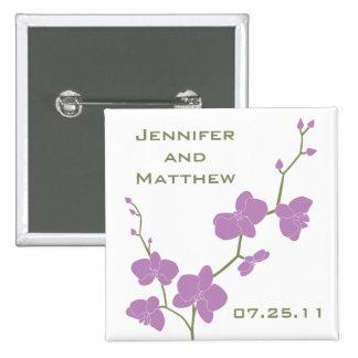 Orquídeas que casan el Pin - aceituna y violeta de