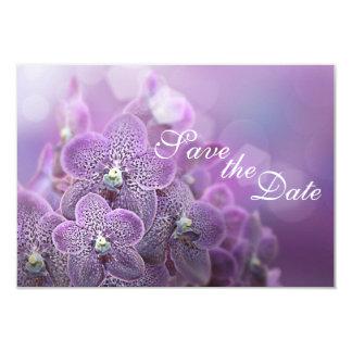 Orquídeas violetas hermosas que casan reserva la invitación 8,9 x 12,7 cm