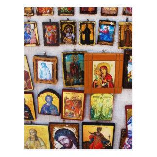 Ortodoxo, cristiano, iconos, bizantino, GrPostcard Postal