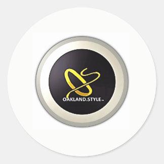 OS del pegatina del logotipo del diseño