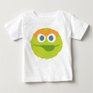 Óscar la cara grande del Grouch Camiseta De Bebé