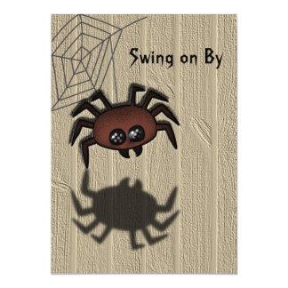 Oscilación lindo de la araña encendido por la comunicados personales