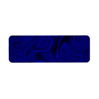 Oscilaciones de humor - azul contra extracto negro etiquetas de remite