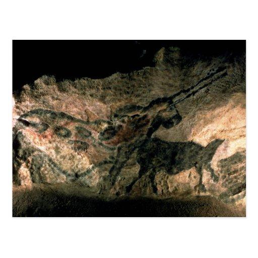 Oscile la pintura de un animal de cuernos, c.17000 tarjetas postales