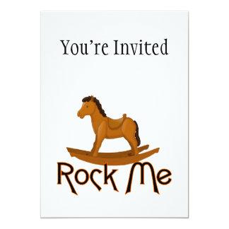 Oscíleme caballo mecedora invitación 12,7 x 17,8 cm