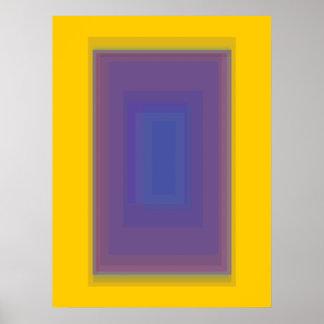 Oscuridad de encargo del color de fondo póster