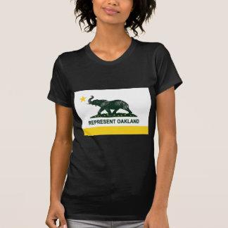 Oscuridad de la bandera de Oakland (atletismo) Camiseta
