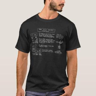 OSCURIDAD de la camiseta de las ecuaciones del
