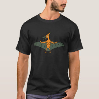 Oscuridad de la camiseta del Pterodactyl del reino
