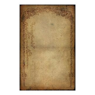 Oscuridad de la elegancia del vintage papelería
