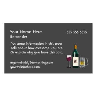 Oscuridad del camarero tarjetas de visita