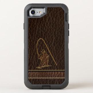 Oscuridad del pescador de la Cuero-Mirada Funda OtterBox Defender Para iPhone 8/7