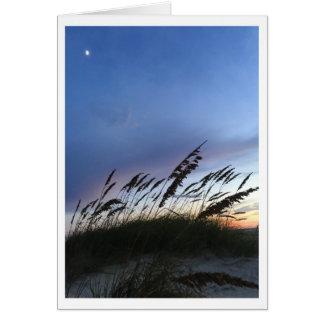 Oscuridad en la playa tarjeta de felicitación
