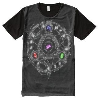 Oscuridad eterna Magick Sigillum del arcángel Camiseta Con Estampado Integral