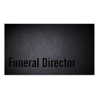 Oscuridad profesional del director de funeraria tarjetas de visita