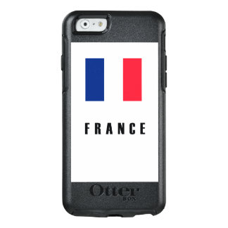 Oscuridad simple de la bandera de Francia Funda Otterbox Para iPhone 6/6s